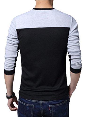 SMITHROAD Herren leicht Langarm Shirt Sweatshirt Tops Patchwork Colorblock  XS bis 3XL ...