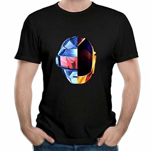 Adela M. Harvey Man's Daft Punk Classic Short Sleeve Top Tee Boy Vintage Shirts Large