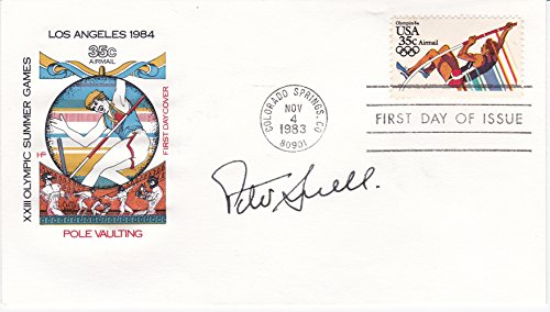 - 1984 SUMMER OLYMPICS FIRST DAY COVER SIGNED BY MIDDLE-DISTANCE RUNNER AND THREE TIMES GOLD MEDAL-WINNER PETER SNELL.