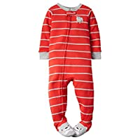 Carter's Baby Boys' Striped Footie - Dog - 12 Months