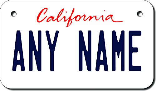 TEAMLOGO Personalized California License Plate - Sizes for Kid's Bikes, Cars, Trucks, Cart, Key Rings (4