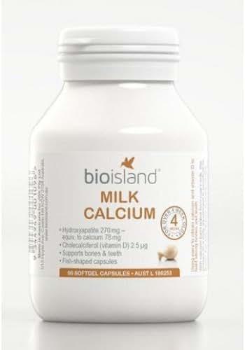 Bio Island Milk Calcium 90 Capsules by Bio Island