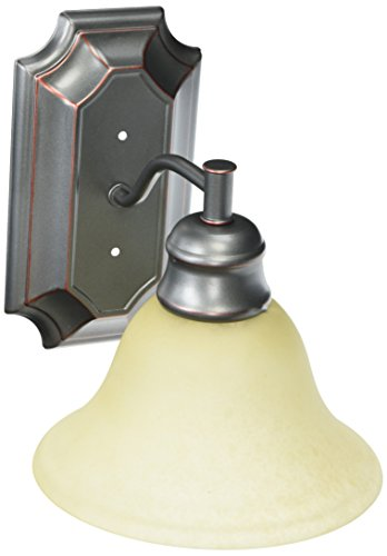 Hardware House 544825 Seville 7-1/2-Inch by 8-1/4-Inch Bath/Wall Lighting Fixture, Classic Bronze Classic Bath Fixture