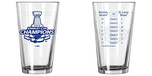 (Boelter St. Louis Blues 2019 Stanley Cup Champions 2 Sided Summary 16 Ounce Pint Glass)