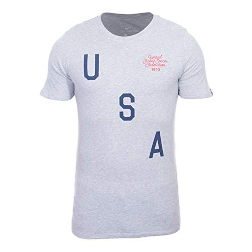 Nike Men's United States Soccer Federation Squad Tee (Gray/Grey, 2XL / XXL)