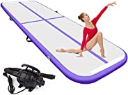 6.6ft/10ft/13ft/16.4ft/20ft/23ft air Track Tumbling mat 4/8 inches Thickness Inflatable Gymnastics airtrack wi