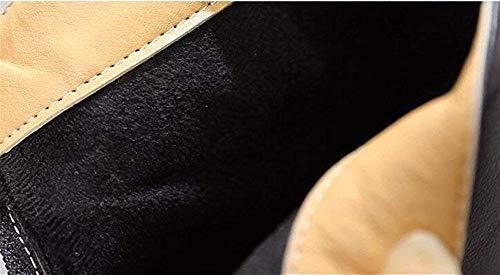 Quadrato Dopo Eu Piccolo Con Pu Deed Scarpe Stivali 35 Avvio Da Retro Zipper Spesso Donna Basso nZPSnYxfwq