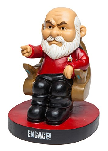 BigMouth Inc.Star Trek Picard Garden Gnome -Funny Garden Gnome with Star Trek Theme, Makes a Great Gag Gift, Weatherproof Ceramic Lawn Gnome, 8
