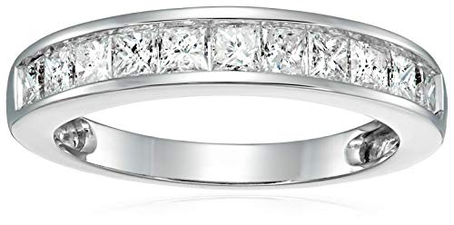 1 cttw Princess Cut Diamond Wedding Band 14K White Gold Size 7