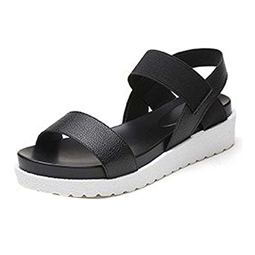 Roman Sandals Low Flip Black Shoes Flat Womens Peep Summer Flops Sandal Shoes Toe Ladies R0xYgwq