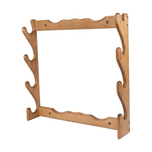 Wall Mounted Gun Rack - Allen Four Gun Wooden Wall Gun Rack, holds both shotguns & rifles