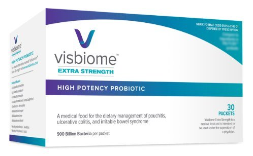 Visbiome Extra strength High Potency Probiotic 900 Billion Bacteria by Visbiome By Exegi Pharma