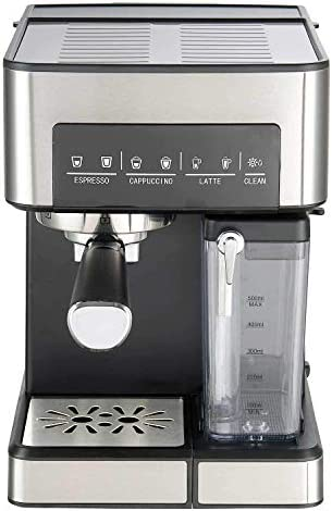 UNIMAT espressomachine met melktank roestvrij staalzwart 22 x 29 x 31 5 cm