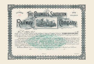 The Columbus Southern Railway Company 12x18 Giclee on canvas