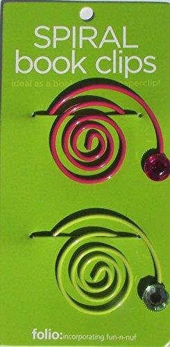 Spiral Book Clip - NEON (Set of 4)