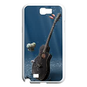 Tyquin Underwater Guitar Case For Samsung Galaxy Note 2 Girl, Samsung Galaxy Note 2 Case Girl For Women With White