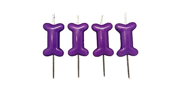 Amazon.com: Paquete de 4 velas de cumpleaños con forma de ...
