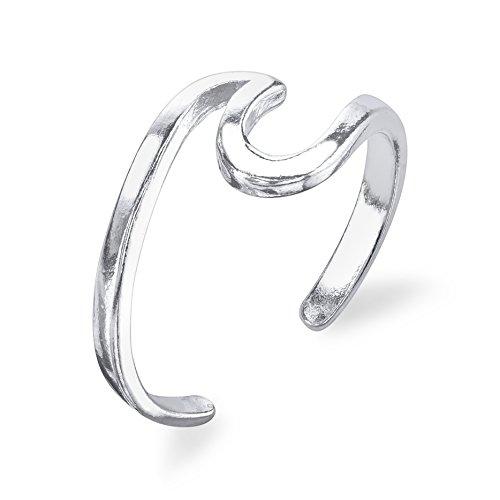 Ocean Wave Ring - 925 Sterling Silver - Adjustable