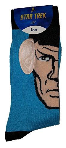 Star Trek Spock 3D Crew Socks W  Ears