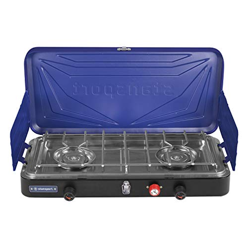 Stansport 21250 Propane Stove Top, Silver/Blue ()