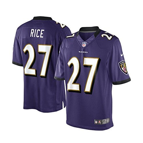 Ray Rice Baltimore Ravens #27 Youth Stitched Jersey Purple (Youth Small 8) (Rays Youth Jersey)