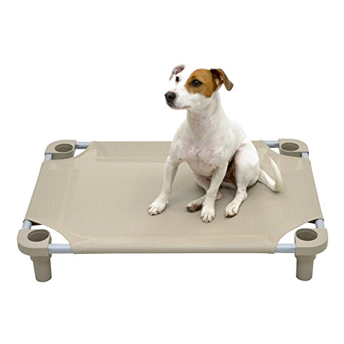 Mahar Manufacturing 30x22 Premium Pet Cot in Taupe with Taupe Legs, Unassembled from Mahar Manufacturing