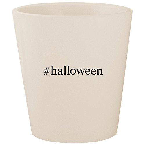 (#halloween - White Hashtag Ceramic 1.5oz Shot)