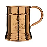 Official Game of Thrones Collectible Copper Moscow Mule Drinking Mug Beer Steins (Lannister)
