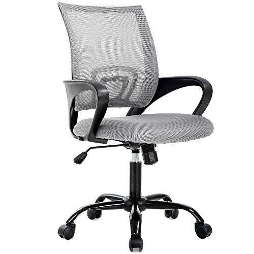 Office Chair Ergonomic Desk Chair Mesh Computer Chair Lumbar Support Modern Executive Adjustable Stool Rolling Swivel Chair for Back Pain