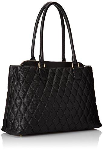 Vera Bradley Quilted Emma Tote Shoulder Bag Black One