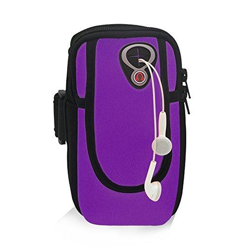 Kigurumi Armtasche Unisex Multifunktionsarmtasche für iPhone 6 / 6S mit Größe kleiner als 5,5 Zoll Lila