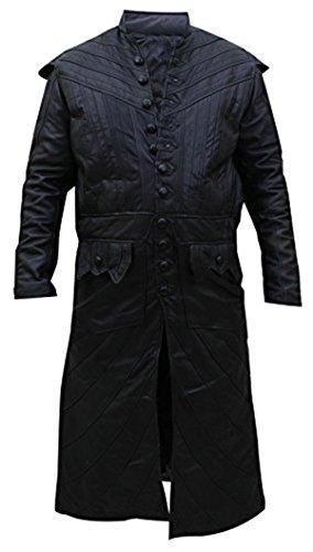 [Pirate Captain Flint Black Sails S3 Leather Costume Coat] (Captain Flint Costume)