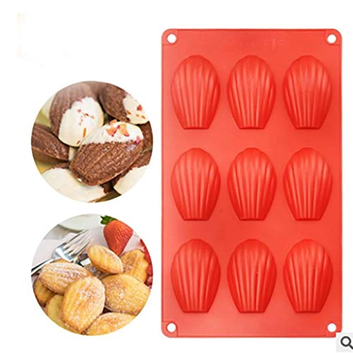 Amazon.com: Gessppo 9 Holes Shell Cake Mould Soap Biscuits Chocolate Pastry Candle Jelly Mold Fondant Bakeware Embosser Baking Tools: Kitchen & Dining