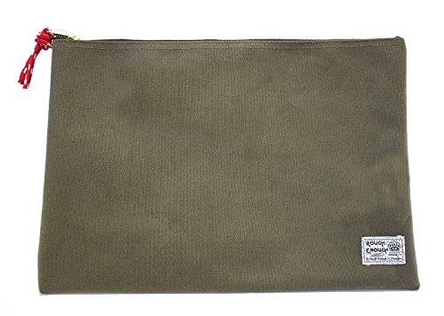 Rough Enough Heavy Canvas A4 Size Fancy Vintage Document Folder Holder (Army Green)