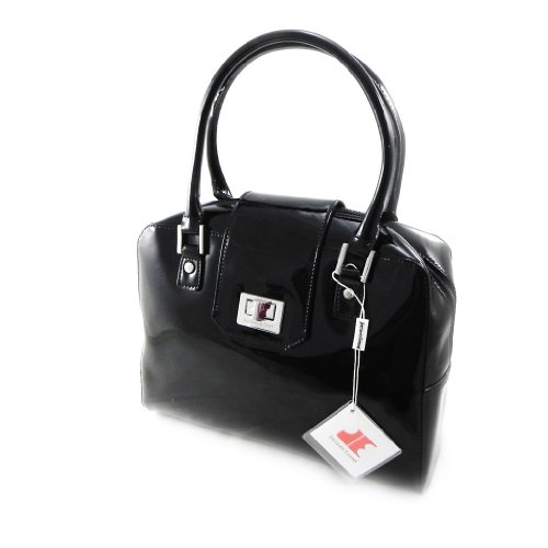 Bolsa de cuero 'Jacques Esterel' lacado en negro.