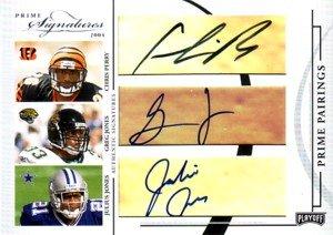 ジョーンズジャクソン ペリーベル 2004 Playoff Prime Signatures Prime Pairings Autographs 9枚限定! B004ZD5WGK