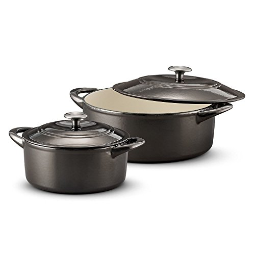 Tramontina Dutch Oven 2-Pack Set, 7 Quart & 4 Quart Gunmetal