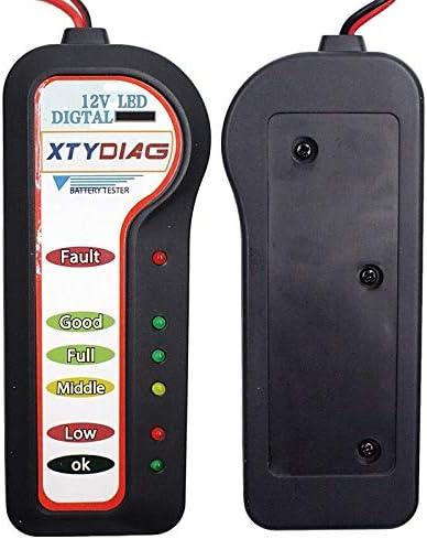 CWTIAN Tester del Tester 12V for Auto Portatile della Batteria Tester Batteria Analyzer Multifunzione Portatile for Auto Tester voltmetro