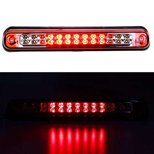 - For Chevy/GMC C/K-Series Tahoe Yukon High Mount LED third Brake Cargo Light (Chrome Housing Red Lens)