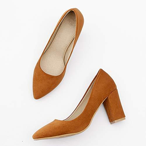 1 jaune Bureau Melady Shoes Escarpins Heels Basic Femmes Doux w44UBTP0