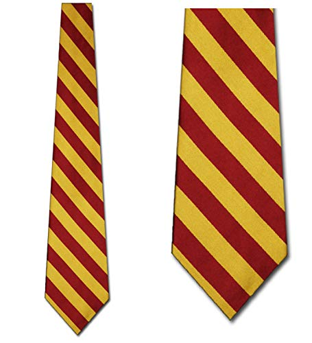 (Mens College Stripe Burgandy and Gold Striped Ties)