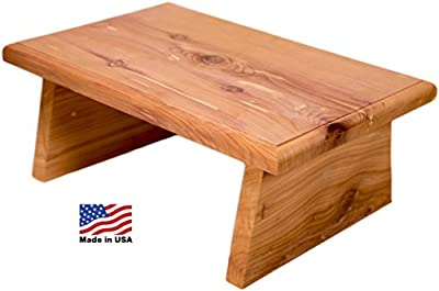 ACE HOME New Strong Western Red Cedar Small Step Stool Made in USA! Made in America! Aromatic Cedar eliminates insects and odors. Farmed from Amish sawmill, hand Crafted in Missouri.