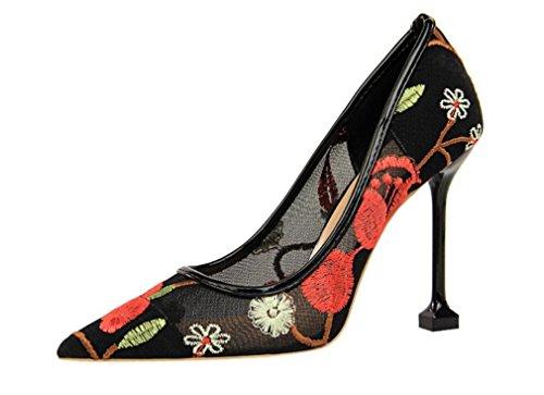 Partido Del Mujeres Tacones Corte Sandalias Princesa La Bordar Bride Altos Lujo Que Señoras Los Datan Las De Boda Zapatos Clásicas Muchachas red Oficina eu39 Pumps nq878YP