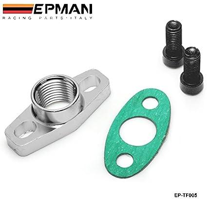 Amazon.com: EPMAN AN10 Female Aluminum Oil Drain Turbo Flange For Garrett Turbo: Automotive