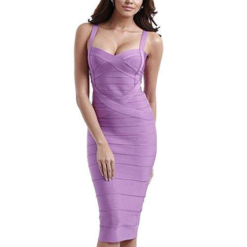 Lavender Spaghetti Strap Dresses