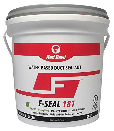 Duct Seal - Red Devil 0841DX F Seal 181 Water Based Duct Sealant, 1 Gallon, Gray