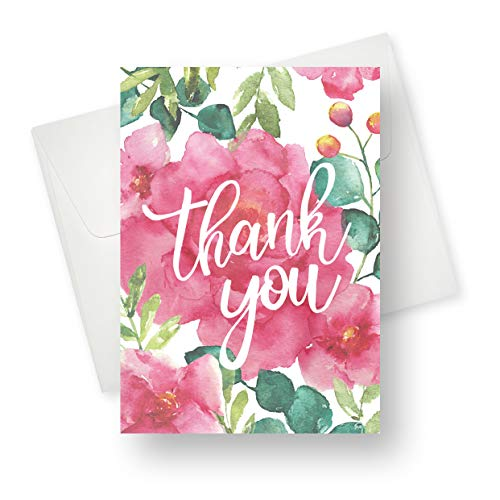 (48 Pack) Thank You Greeting Card - Premium Quality with Unique Designs - for Boys, Girls, Men, Women and for All Occasion - 5.5