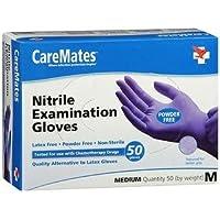 Guantes de examen de nitrilo CareMates (50 guantes) Tamaño mediano