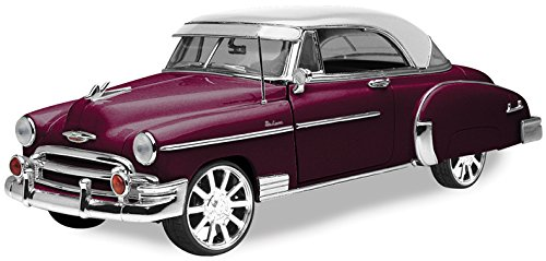 1950 Chevy Bel Air, Burgundy With White Roof - Motormax Custom Classics 79007 - 1/18 Scale Diecast Model Car