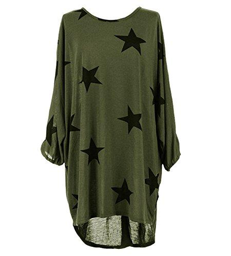 Femme Armeegrün À Manches Longues shopping 365 shirt T ZRSYzwn8